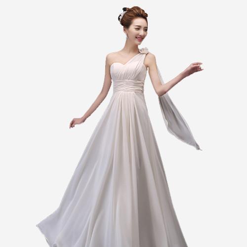 香槟色连衣裙